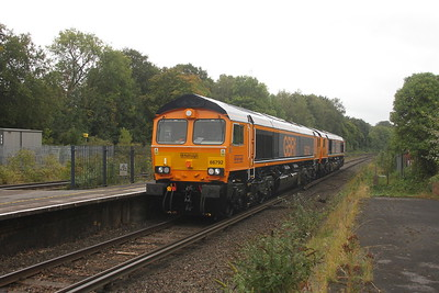 66792 Micheldever 23/09/20 0D66 Eastleigh to Eastleigh with 66790