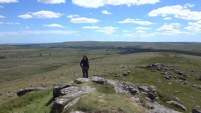 We hiked back over some of the wild Tors of Dartmoor