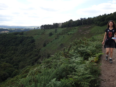 The castle was our start point for the Teign Gorge hike - all the way down into the valley, along then back up.