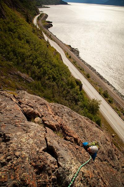 Uti follows up <i>Sunshine Ridge 5.8</i> on the Seward Highway.
