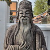 Chinese statue in Wat Pho courtyard