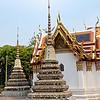 Stupas in Wat Pho courtyard