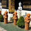 Statues along Wat Inthakhin