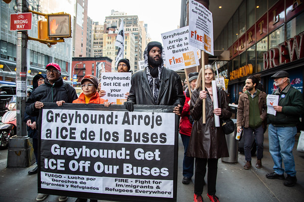 UNAC ICE Off Greyhound Action, NYC
