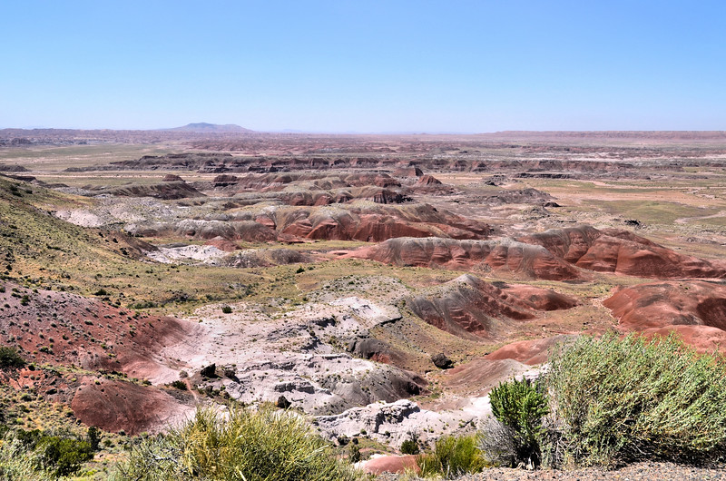 Painted Desert with Chinde Mesa in the distance