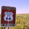 Route 66 sign in the Petrified Forest National Park