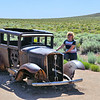 Anne with the 1932 Studebaker along the old Route 66