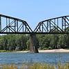 Train bridge over the Missouri