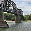 Train Bridge over the Missouri River
