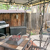 Backyard patio of the Airbnb In Colorado Springs