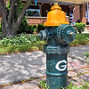 Fire hydrant celebrating the Packers