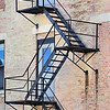 Fire escape in downtown Racine