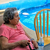 William's Mom by the pool