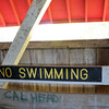 No Swimming from the Sim Smith Bridge