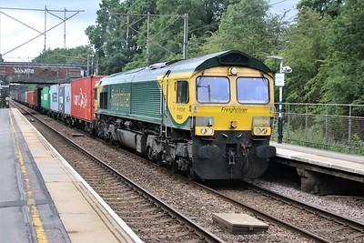 66504 passes Watton-at-Stone 0948/4e24 diverted Felixstowe to Leeds