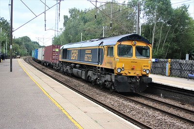66722 passes Bayford at 1113/4L43 diverted Doncaster iPort to Parkeston Quay