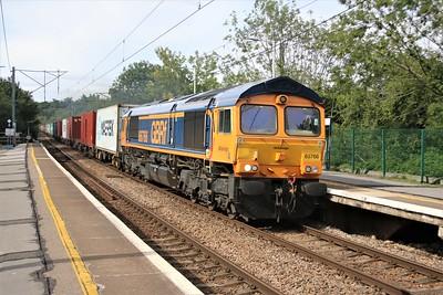 66766 passes Hertford North at 1650/4z81 diverted Masborough to Felixstowe