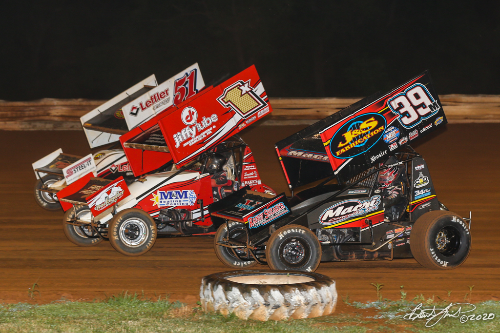 Mitch Smith Memorial - Pennsylvania Sprint Car Speed Week presented by Red Robin - Williams Grove Speedway - 51 Freddie Rahmer Jr., 1X Chad Trout, 39M Anthony Macri