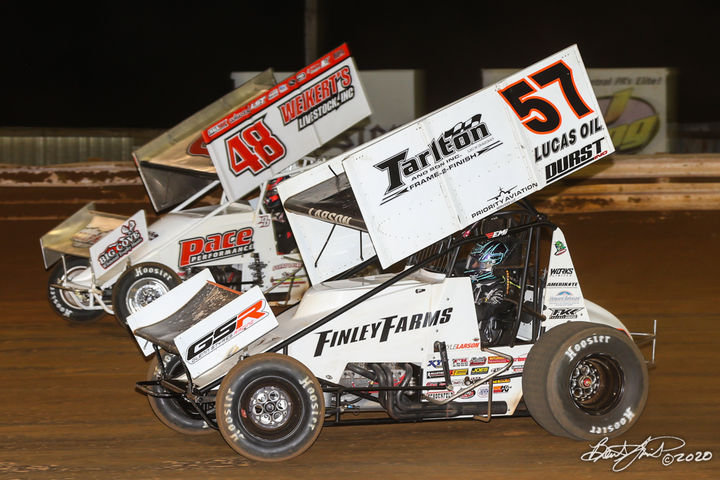 2020 Pennsylvania Sprint Car Speed Week presented by Red Robin - Williams Grove Speedway - 48 Danny Dietrich, 57 Kyle Larson