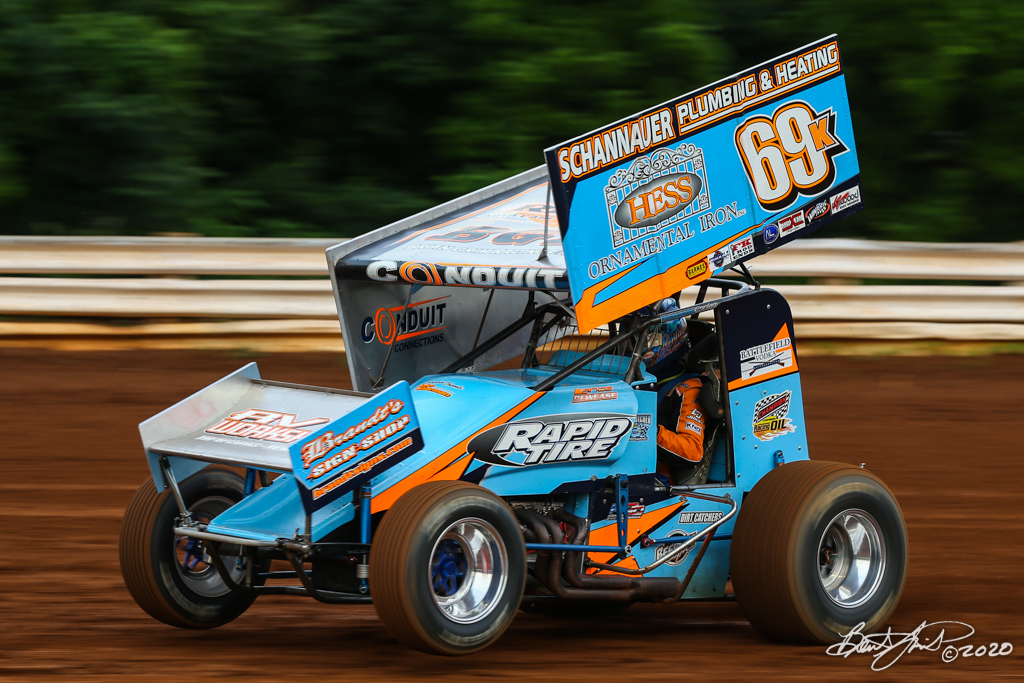 2020 Pennsylvania Sprint Car Speed Week presented by Red Robin - Williams Grove Speedway - 69K Lance Dewease