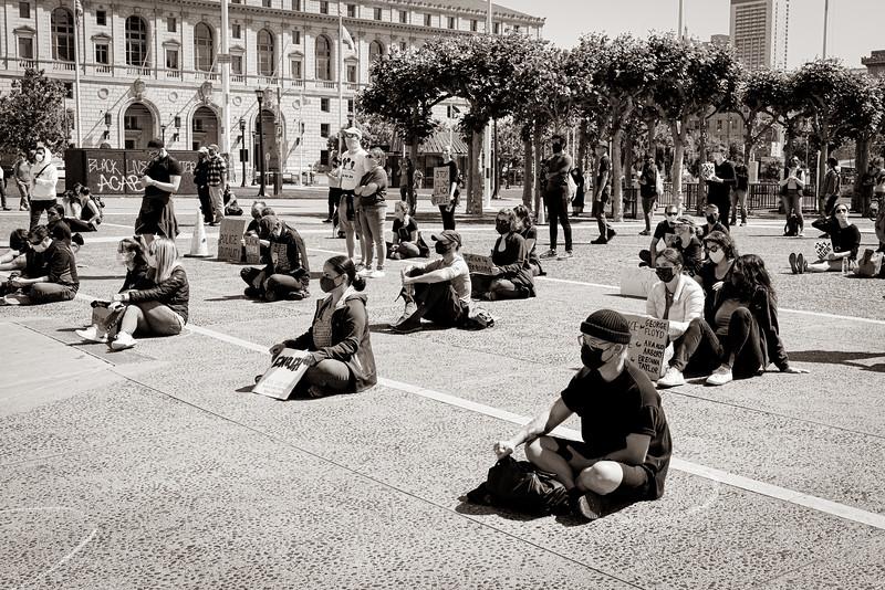 Social Distance During George Floyd Protest - June 1 San Francisco