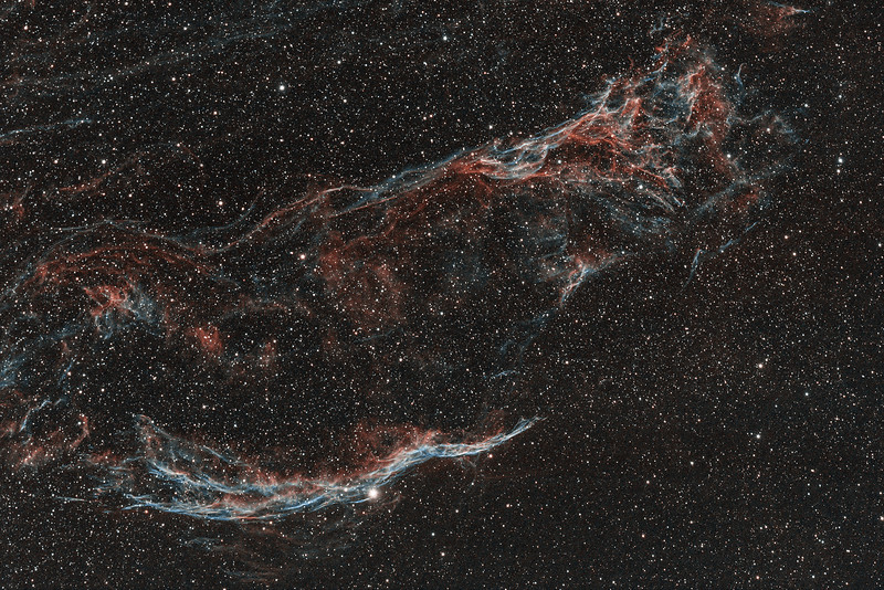 NGC6960 | Western Veil and Pickering's Triangle nebula (H-alpha / OIII)