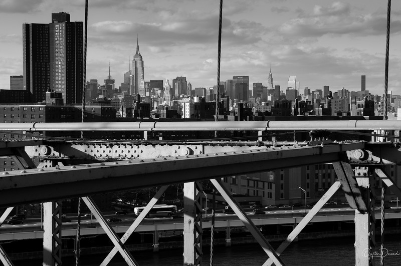 Manhattan from Brooklyn Bridge - New York
