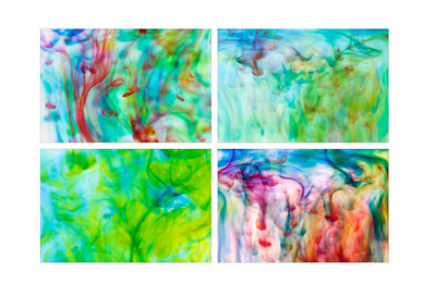 Water and Food Coloring Abstract