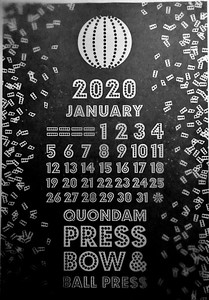 January, 2020, Bow and Ball Press, Quondam Press