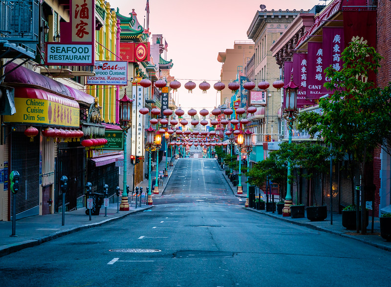 Empty Grant Street Chinatown