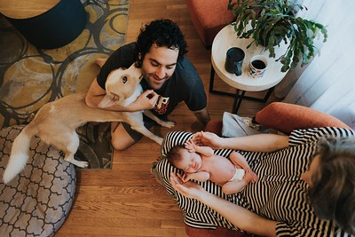 Newborn photography at home
