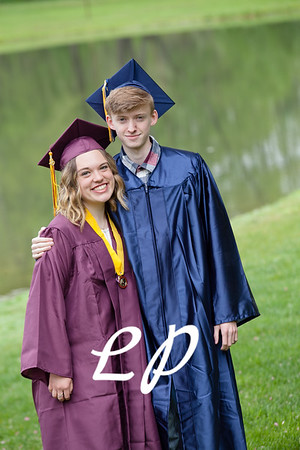 Sydnie and Jake Cap and Gown (3)