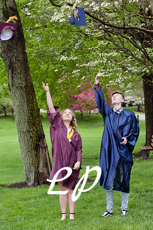Sydnie and Jake Cap and Gown (5)