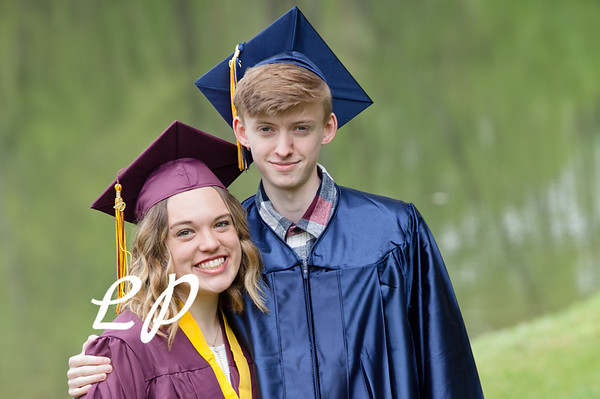 Sydnie and Jake Cap and Gown (4)