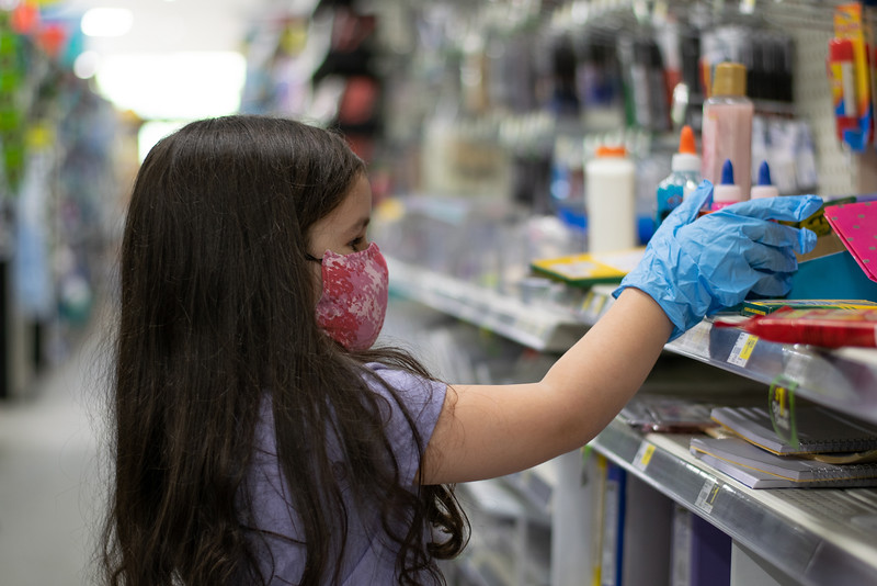 Amber Quiroz<br /> MacArthur High School<br /> Houston, TX<br /> Back to school shopping during the COVID-19 pandemic.