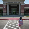 Amber Quiroz<br /> MacArthur High School<br /> Houston, TX<br /> Walking into kindergarten during the COVID-19 pandemic.