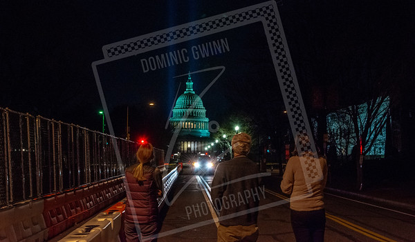 Looking at the Barricaded U.S. Capitol