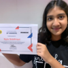 Nyla Siddique of Stage 7C wins the second prize in the Pioneer Fantasy Writing Competition