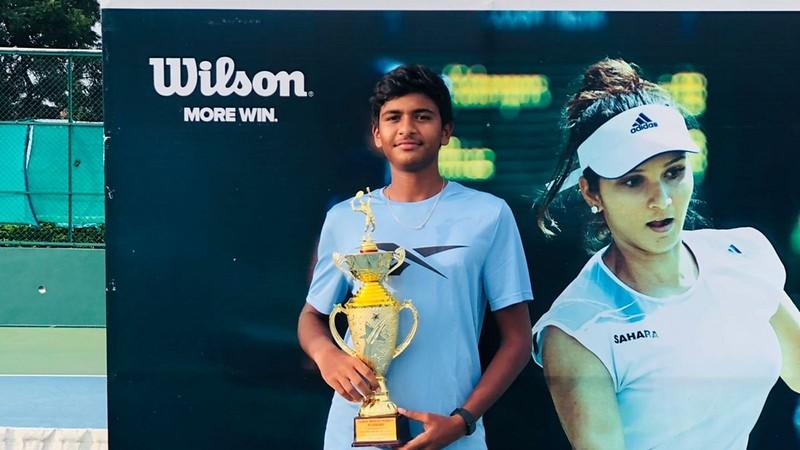 Venkat Rishi Batlanki wins the Under-16 Tennis Championship Series