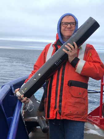 WAITING FOR THE SIGNAL to launch a sonobuoy for seismic data collection