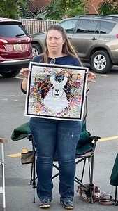Marlene is a new member to the guild.  This Llama is a wallhanging that she made  and is usually in her office.