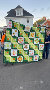Another quilt by Marlene.  Very busy for a new-to-quilting person.
