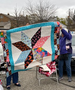 Billie Piazza also made this Lone Star quilt.