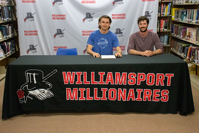 Michael Collyer signs with Messiah University to play baseball alongside Coach Kyle Schneider.