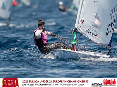 2021 Laser U21 European Championships- Tivat- Montenegro