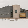 Winter exterior of Burchfield-Penney Art Center at SUNY Buffalo State College.
