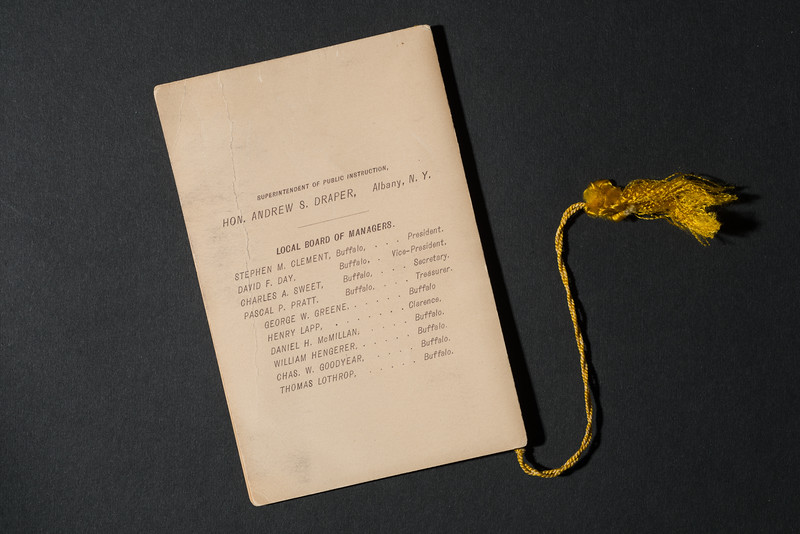 1891 Normal School Alumni Booklet for 150th anniversary celebration at SUNY Buffalo State College.