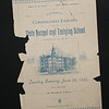 1886 State Normal and Training School commencement booklet  for 150th anniversary celebration at SUNY Buffalo State College.