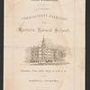1875 Buffalo Normal School commencement booklet for 150th anniversary celebration at SUNY Buffalo State College.