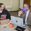 ROAR-2-Success completion coach Douglas Hoston meeting with Jade Calvin-Nau at SUNY Buffalo State College.